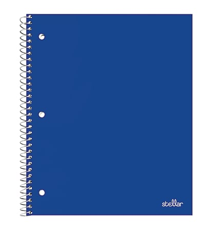 """Office Depot® Brand Stellar Poly Notebook, 8-1/2"""" x 11"""", 1 Subject, College Ruled, 100 Sheets, Blue"""
