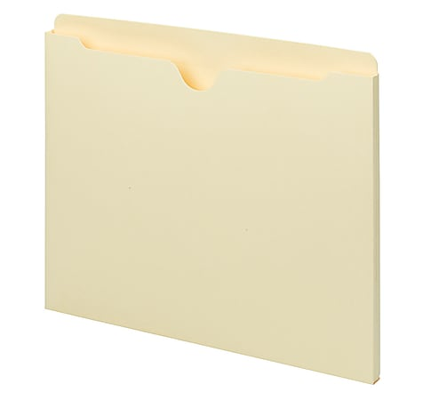 "Smead® Manila File Jackets, Single-Ply Tab, 9 1/2"" x 11 3/4"", Pack Of 100"