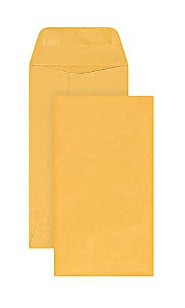 Office Depot® Brand Coin Envelopes, #7, Gummed Seal, Manila, Box Of 500
