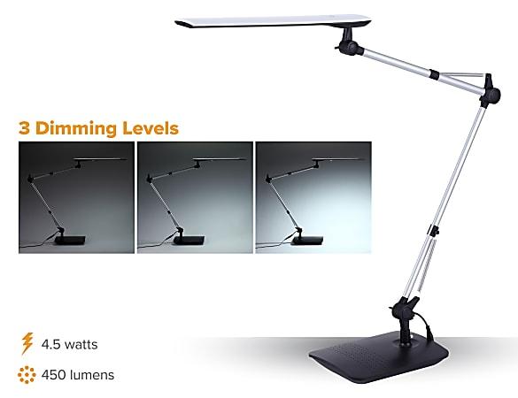 Bostitch Dual Swing Arm Led Desk Lamp, Adjustable Led Desk Lamp