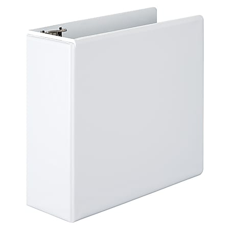 """Wilson Jones® View 3-Ring Binder With EasyLoad Rings, 4"""" D-Rings, 51% Recycled, White"""