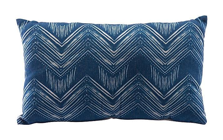Zuo Modern Ikat Pillow, 3, Blue/Natural