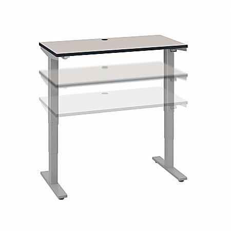 """Move 40 Series by Bush Business Furniture 48""""W Electric Height-Adjustable Standing Desk, White Spectrum/Cool Gray Metallic, Standard Delivery"""