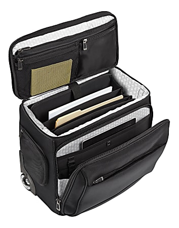 """Ativa™ Ultimate Compact Workmate Rolling Briefcase With 17"""" Laptop Pocket, Black"""