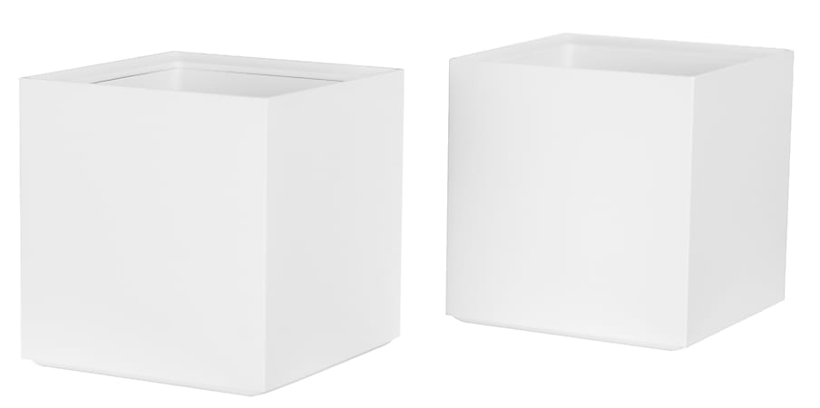 Bostitch® Office Konnect Stackable Tall Storage Cups, White, Pack Of 2 Cups