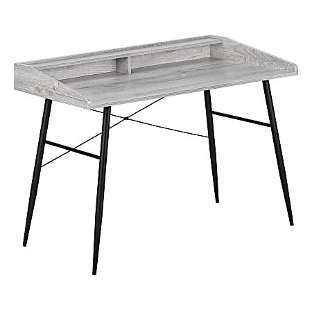 """Monarch Specialties Len 48""""W Computer Desk, Gray"""