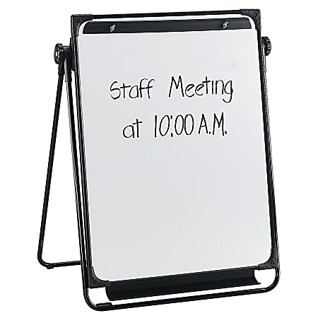 """Flipchart Easel With Non-Magnetic Dry-Erase Whiteboard, 29"""" x 38"""", Wood Frame With Pine Finish (AbilityOne 7520 01 424 4867)"""