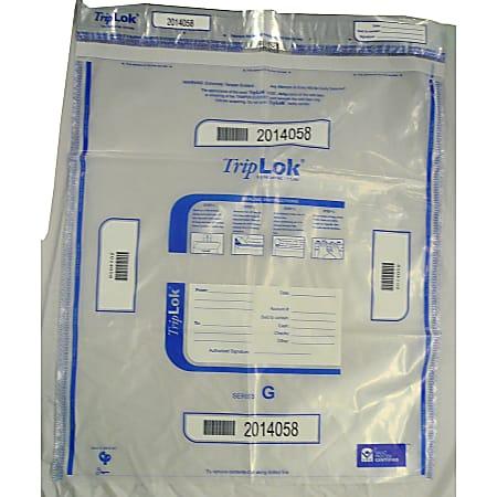 "TripLOK Tamper Evident Security Bags, 20"" x 24"", Clear, Carton Of 250"
