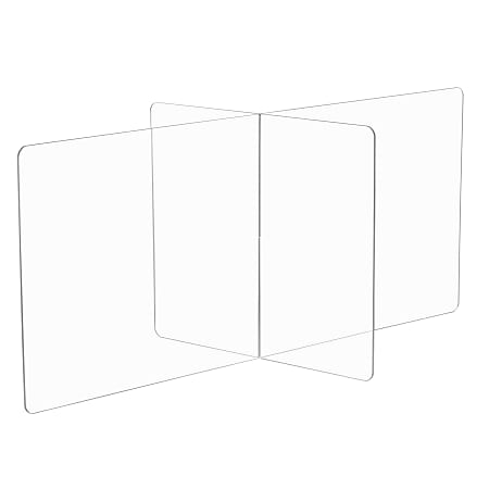 """Safco® Multi-Workstation Tabletop Wellness Screen, 23-1/2""""H x 60""""W x 30""""D, Clear"""
