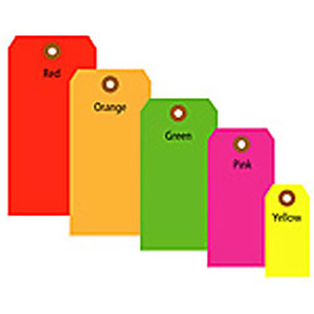 """Office Depot® Brand Fluorescent Shipping Tags, #6, 5 1/4"""" x 2 5/8"""", Yellow, Box Of 1,000"""