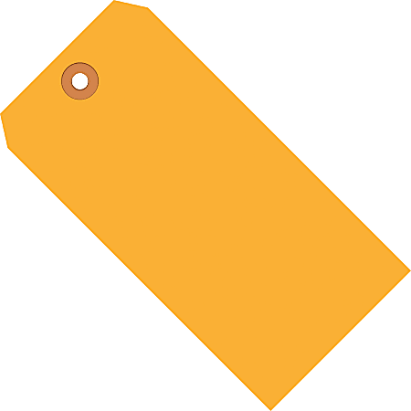 """Office Depot® Brand Fluorescent Shipping Tags, #6, 5 1/4"""" x 2 5/8"""", Orange, Box Of 1,000"""