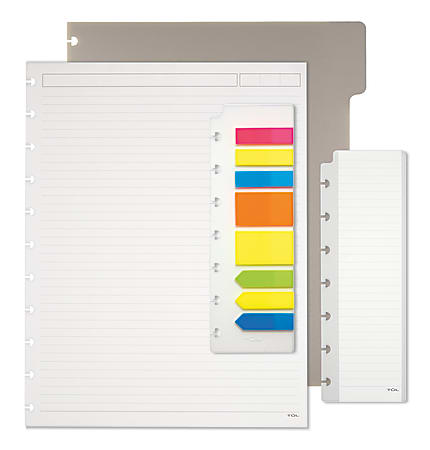 TUL® Discbound Notebook Starter Kit, Letter Size, Assorted Colors