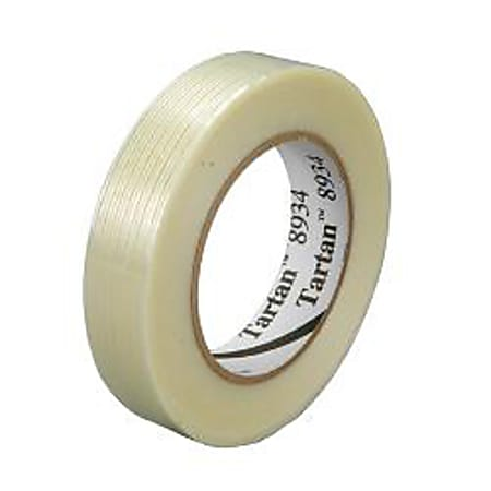 """3M® 8934 Strapping Tape, 2"""" x 60 Yd., Clear, Case Of 12"""