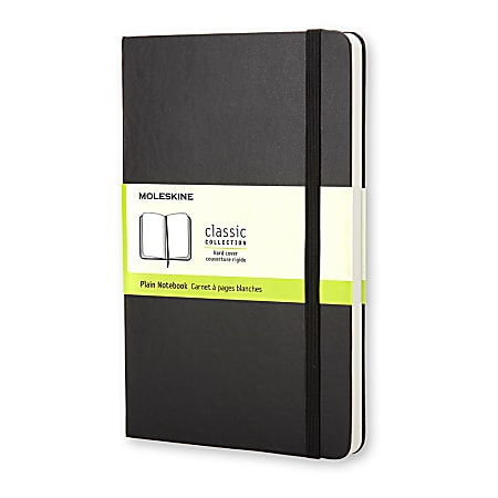 "Moleskine Classic Soft Cover Notebook, 3-1/2"" x 5-1/2"", Ruled, 192 Pages (96 Sheets), Black"