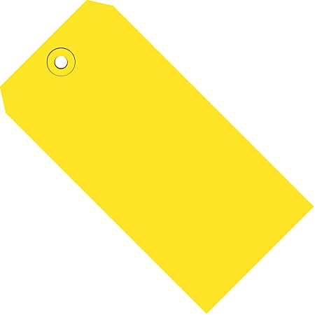 """Office Depot® Brand Color Shipping Tags, #3, 3 3/4"""" x 1 7/8"""", Yellow, Box Of 1,000"""