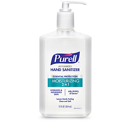 Purell® 2-In-1 Moisturizing Advanced Gel Hand Sanitizer, 12 Fl Oz