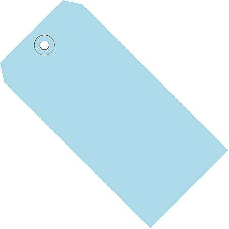 """Office Depot® Brand Color Shipping Tags, #6, 5 1/4"""" x 2 5/8"""", Light Blue, Box Of 1,000"""