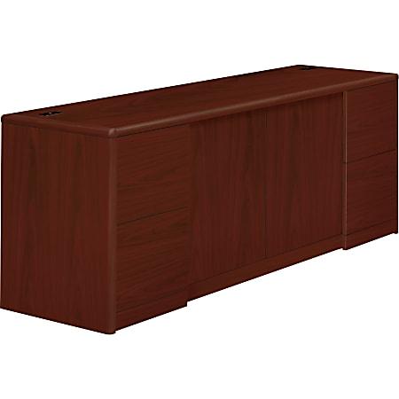 HON®10700 Series Laminate Double Full-Pedestal Credenza With Doors, Mahogany
