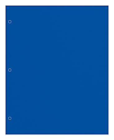 Office Depot® Brand 2-Pocket Paper Folder, Letter Size, Blue