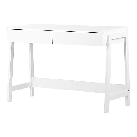 """South Shore Liney 48""""W Secretary Desk, White"""