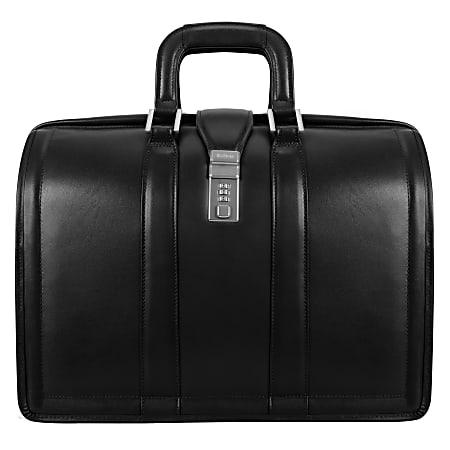 McKlein Morgan Leather Briefcase, Black