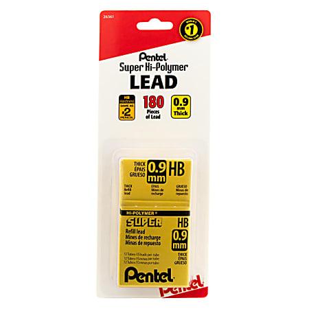 Pentel® Super Hi-Polymer® Lead Refills, #2 HB, 0.9 mm, Pack Of 144
