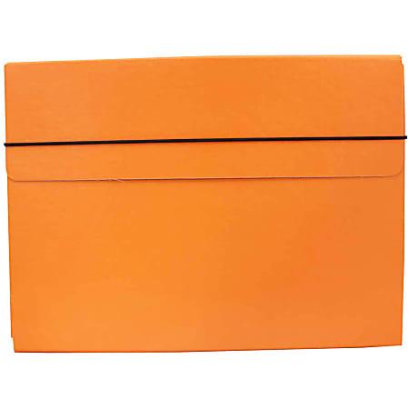 """JAM Paper® Strong Kraft Portfolio With Elastic Closure, 9 1/4"""" x 12 1/2"""", Orange"""
