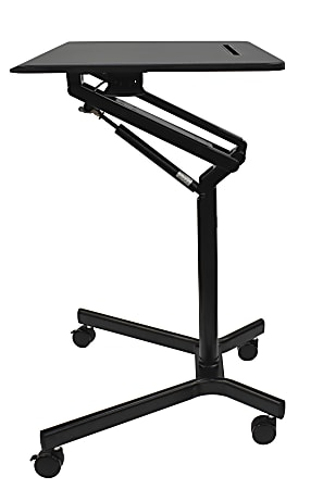 """Realspace® Mobile Sit-to-Stand 28""""W Compact Desk, Black"""