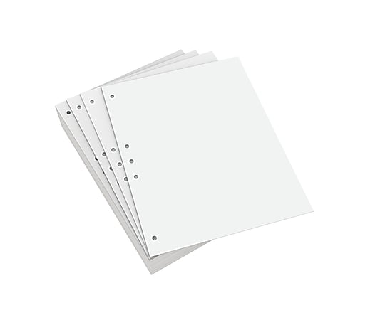 Lettermark™ Custom Cut Sheets, Letter Size, Prepunched Left, 5-Hole, 20 Lb, 500 Sheets Per Ream, Pack Of 5 Reams