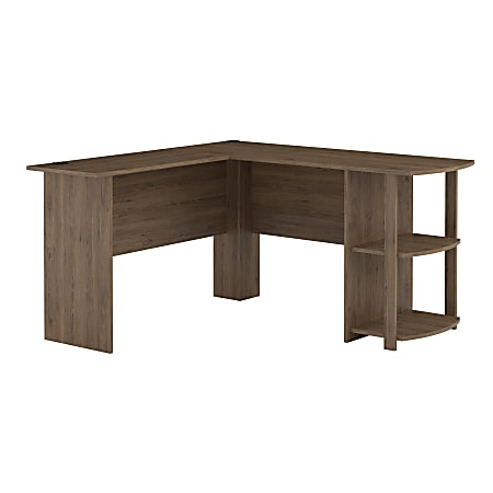 Ameriwood™ Home Dakota L-Shaped Desk With Bookshelves, Rustic Oak