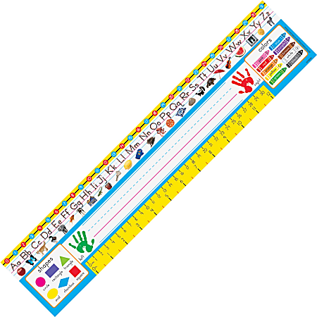 """Trend PreK-1 Desk Toppers Reference Name Plates - 3.75"""" Height x 18"""" Width x 16"""" Length - 36 / Pack"""