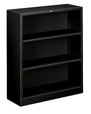 HON® Brigade Steel Bookcase, 3 Shelves, Black