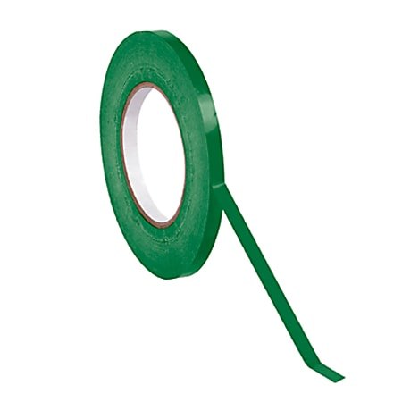 "Partners Brand Bag Tape, 3/8"" x 180 Yd., Dark Green, Case Of 16"