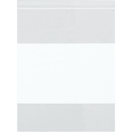 """Office Depot® Brand 2 Mil White Block Reclosable Poly Bags 12"""" x 12"""", Box of 1000"""