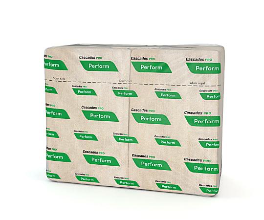 "Cascades® for ServOne™ Twin Pack Napkins, Moka® 12 5/8"" x 8 1/2"", 376 Napkins Per Sleeve, Case Of 16 Sleeves"