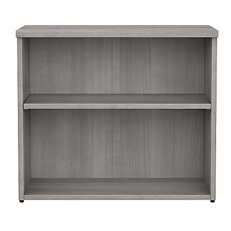 Bush Business Furniture 400 Series 2-Shelf Bookcase, Platinum Gray, Standard Delivery