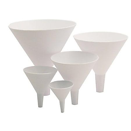 Tablecraft Plastic Funnel Set, White