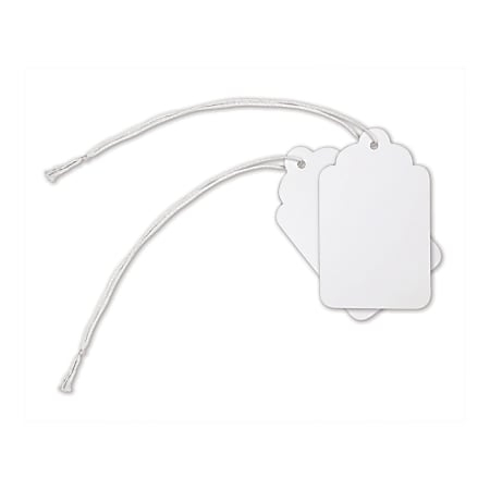 """Office Depot® Brand Merchandise Tags, Size 8, 1.69"""" x 2.75"""", White, Pack Of 500"""