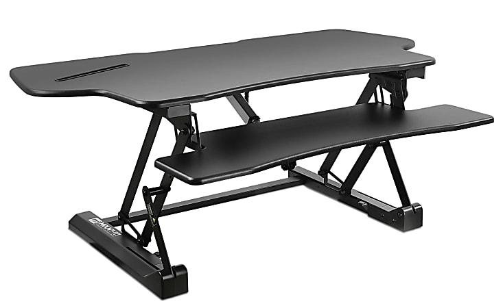 "Mount-It! MI-7962 Electric Standing Desk Converter, 6""H x 50""W x 9""D, Black"