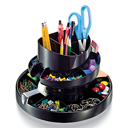 Office Depot® Brand 30% Recycled Deluxe Rotary Organizer, Black