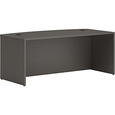 "HON® Mod Bowfront 72""W Desk, Slate Teak"