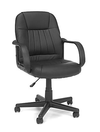 OFM Essential Series Ergonomic Vinyl Mid-Back Conference Chair, Black