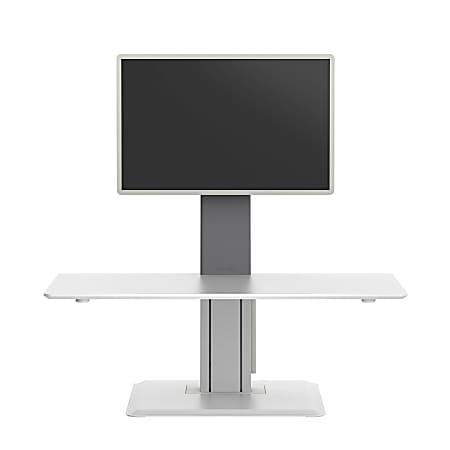 WorkPro® Perform Desk Riser By Humanscale, Single Monitor, White
