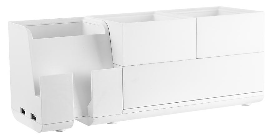 Bostitch® Office Konnect Stackable 4-Piece Desk Organization Kit, White