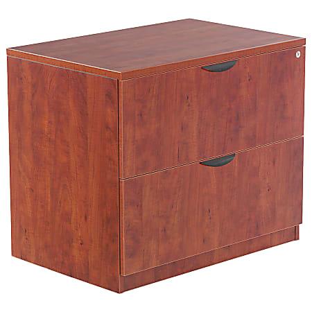 """Alera® Valencia 35""""W Lateral 2-Drawer File Cabinet, Medium Cherry"""