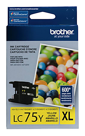 Brother® LC75Y High-Yield Yellow Ink Cartridge