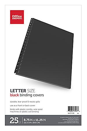"""Office Depot® Brand Binding Backs, 8 3/4"""" x 11 1/4"""", Black, Pack Of 25"""
