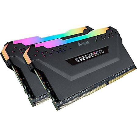 Corsair Vengeance RGB Pro 32GB (2 x 16GB) DDR4 SDRAM Memory Kit - For Desktop PC - 32 GB (2 x 16GB) - DDR4-3200/PC4-25600 DDR4 SDRAM - 3200 MHz - CL16 - 1.20 V - Non-ECC - Unbuffered - 288-pin - DIMM - Lifetime Warranty