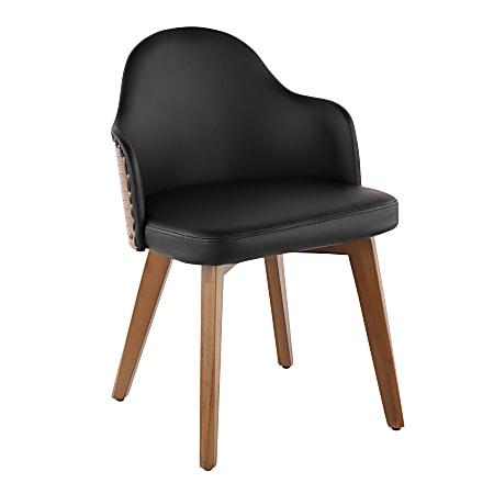 LumiSource Ahoy Chair, Walnut/Black
