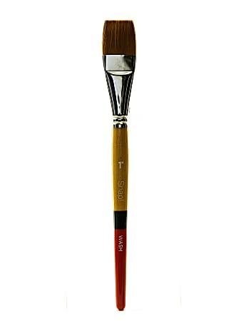 "Princeton Snap Paint Brush, 1"", Wash Bristle, Golden Taklon, Synthetic, Multicolor"